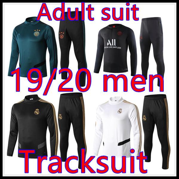 19 20 Real Madrid Sportkleidung Ajax PSG erwachsenen Fußball Sportswear 2019 2020 Paris mappe Trainingsfußballtrainingsanzug Jogging
