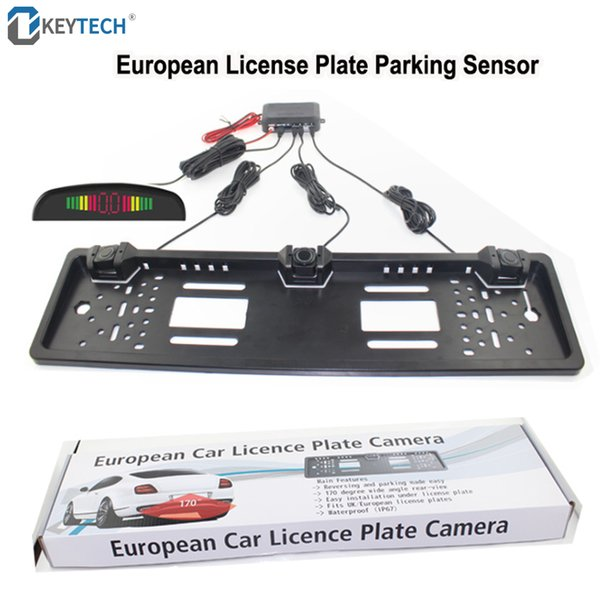 2019 OkeyTech New Car Parking Sensor Kit Auto Reversing Radar European  License Plate Camera Front Back Electromagnetic Monitor System From  Ayintian,