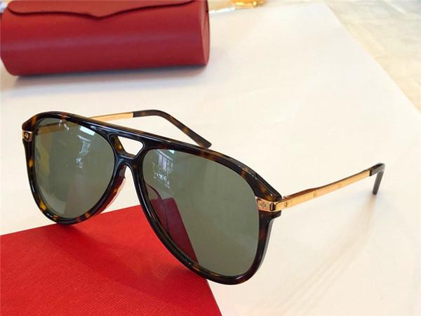 Yeni moda tasarımcısı güneş gözlüğü 0105 pilot çerçeve en kaliteli high-end açık uv400 koruyucu gözlük toptan cömert minimalist tarzı