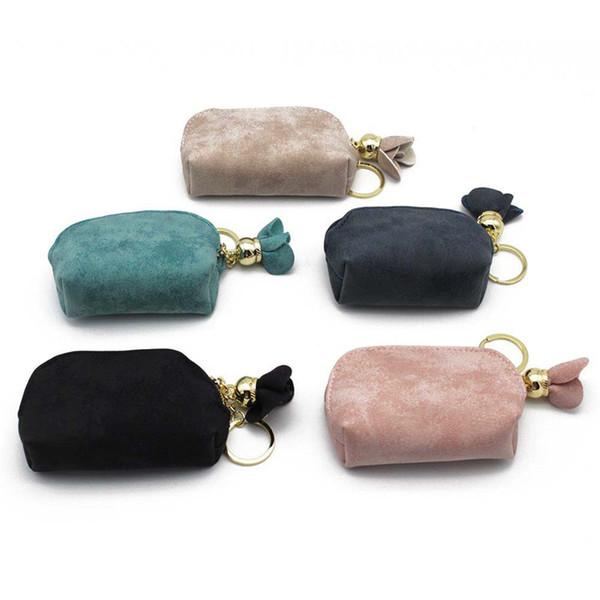 Hot Sale Luxury Women Lady Leather Coin Purse Portable Small Zipper Pocket Wallet Brand Clutch Handbag Money Bag Free Shipping