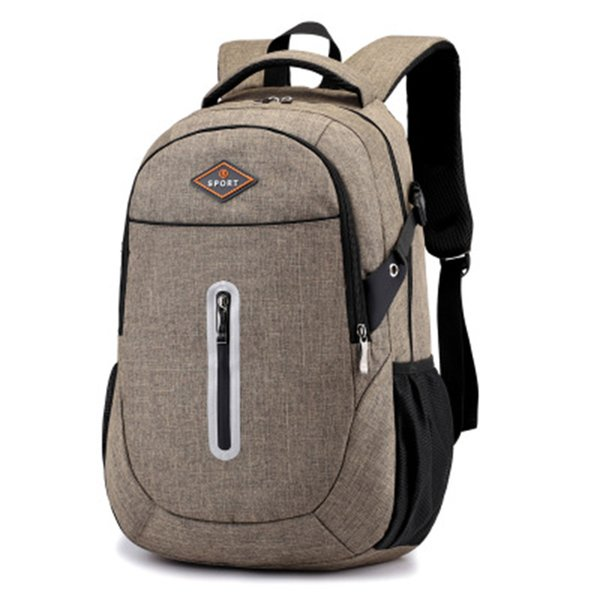 Men's and women's outdoor backpack travel waterproof backpack 15.6-inch laptop backpack suitable for school / work / sports / camping.grey