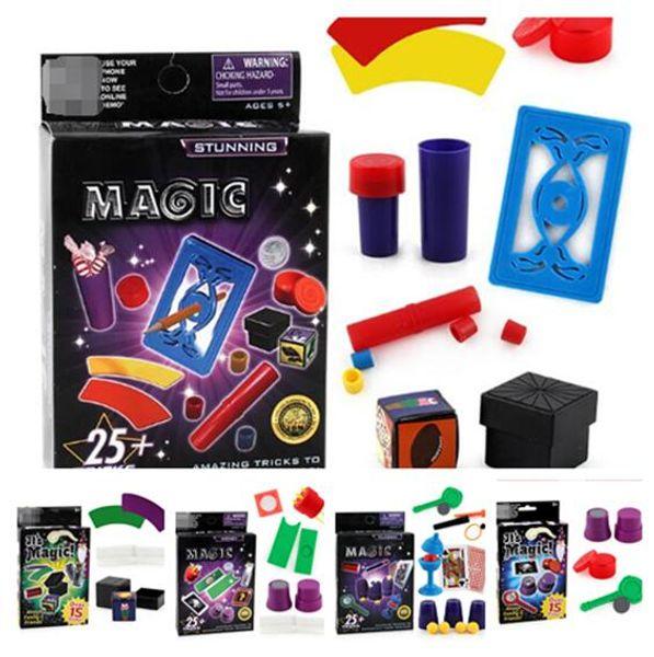 5 style Magicien Trucs Magiques Jouet Outil Accessoires Props Ensemble Kit pour Enfants Enfants Anniversaire Festival De Noël Cadeau