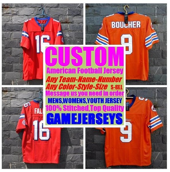 top popular Personalized american football Jerseys college cheap authentic soccer rugby sports jersey stitched men women youth kids 4xl 5xl 6xl 7xl 8xl 2019