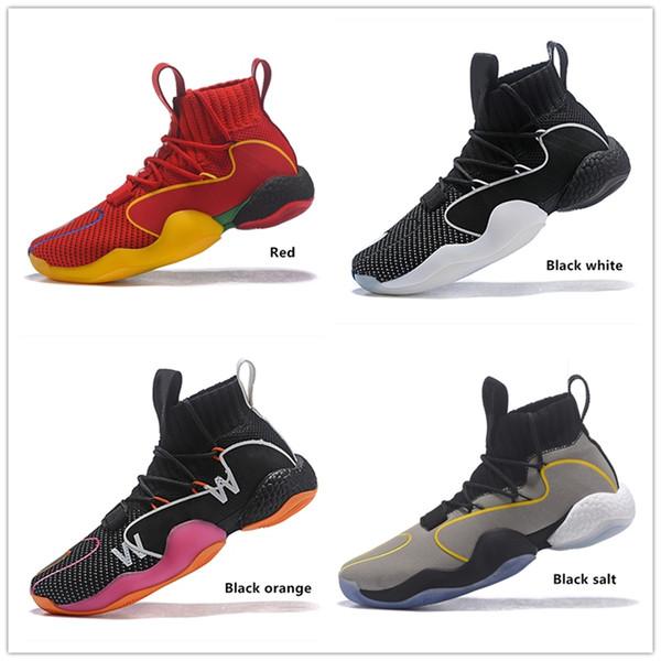 Con los zapatos de baloncesto BOX Zapatos endurecidos VIP Pharrell X Loco BYW MVP Gratitud Empatía pared Tamaño de camino 40-46