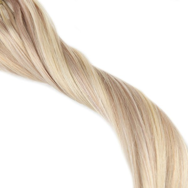 Full Shine Customized Order Micro Loop Remy Human Hair Extensions Piano Color 18/613
