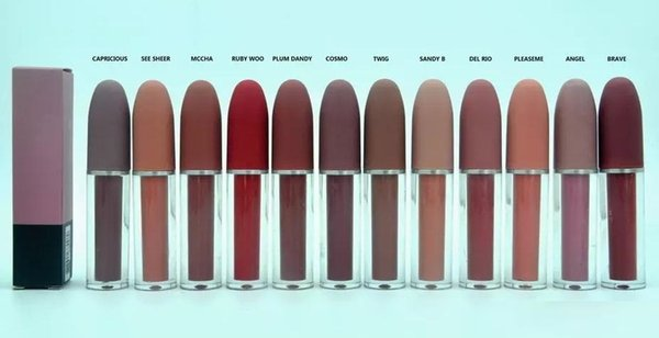 best selling NEW Good quality Lustre Lipgloss Retro Frosted Brand Lipgloss Glaze Lipgloss 12 Different Colors With English Name 4.5g