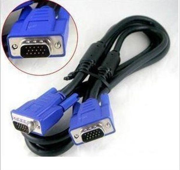 1,5 м 5Ft 15-контактный SVGA VGA монитор M / M между мужчинами и мужчинами VGA удлинитель синий 200 шт. / Лот