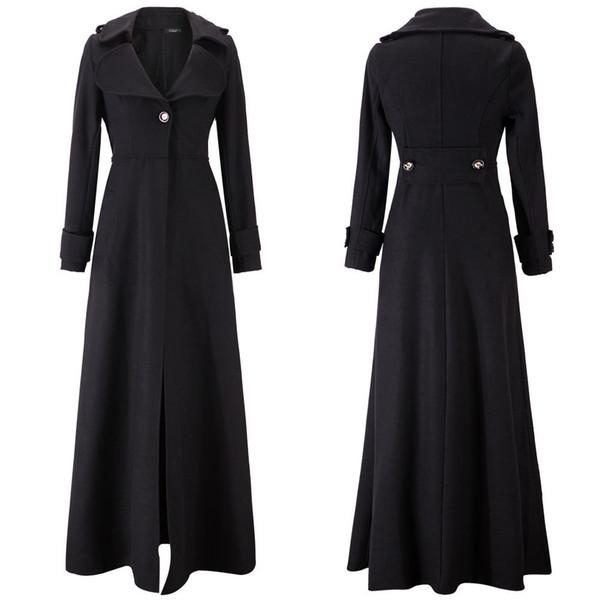 Automne et l'hiver manteau de laine des femmes et Slim long manteau coupe-vent noble ratissage occasionnel Code S-XXL