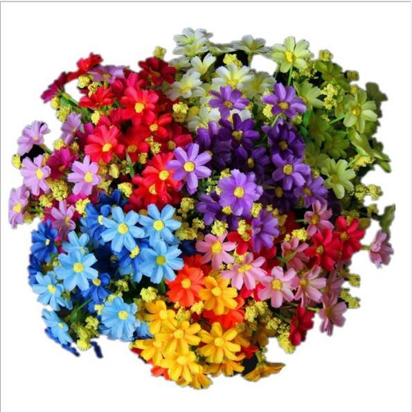 Simulated Flower of Little Daisy 28pcs Flowers of Juglans Daisy Home Decoration Living Room with Silk Flowers