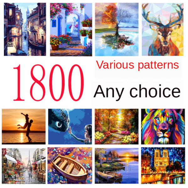 top popular DIY Digital Oil Painting Hand-painted 40*50cm Digital Pigment Decorative Painting Floral Landscape Animal Life Seascape Painting By Number 2021