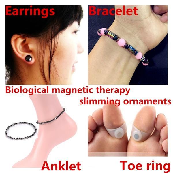 Sliming Schwarz Fuß Kette Gesunde Gewicht Verlust Magnetische Therapie Fußkettchen Knöchel Armband Für Frauen Männer Schlankheits-cremes Schönheit & Gesundheit