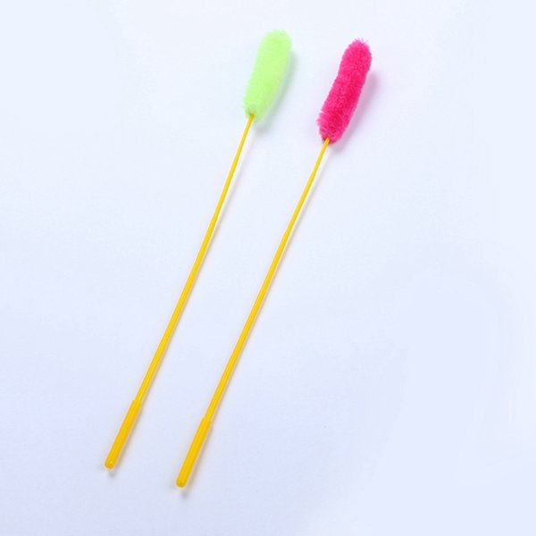 New Funny Elastic Plastic Long Pole Sticks with Small Wool String Funny Playing Interactive Toy Cat Supplies