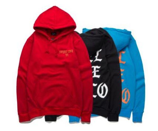 Men\'s Hooded Tide brand new autumn and winter KANYE Kanye I Feel Like PABLO letters plus velvet hooded head sweater coat jacket