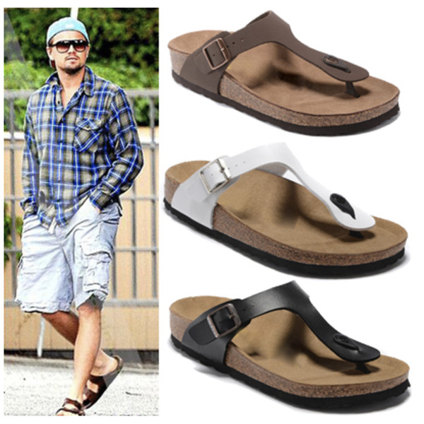 Hot Sale-NEW Flip Flops Summer Cork Slipper Clogs sandals for men and women luxury beach couple flip flops Mayari 35-44