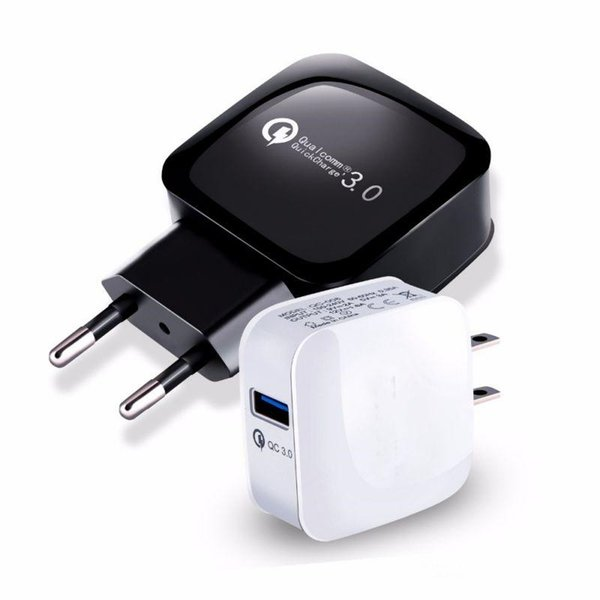 QC3.0 Fast Wall Charger USB Quick Charge Charging Travel Power Adapter US EU Dock For iPhone XS MAX Samsung Huawei Xiaomi