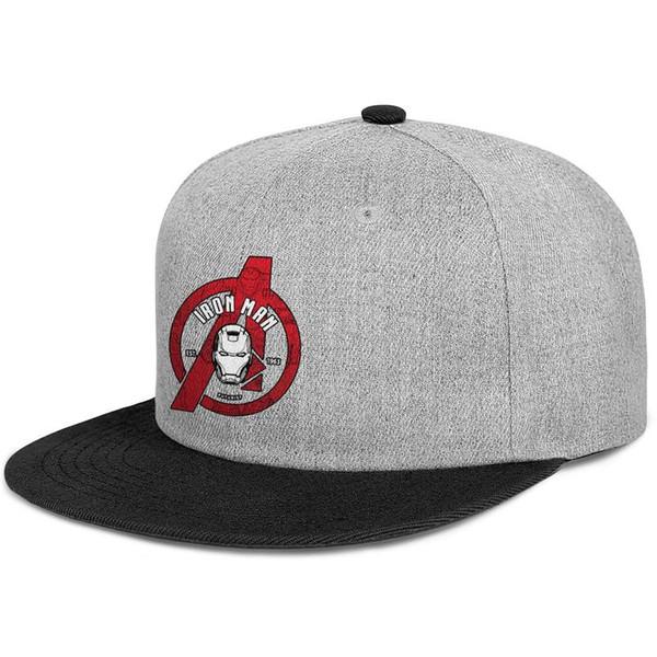 Maßgeschneiderte Herren- und Damen-Baseballmütze Iron Man-Logo Ein roter, flacher Hip Hop-Hysteresenkappen-Hut mit Krempe für die Reise
