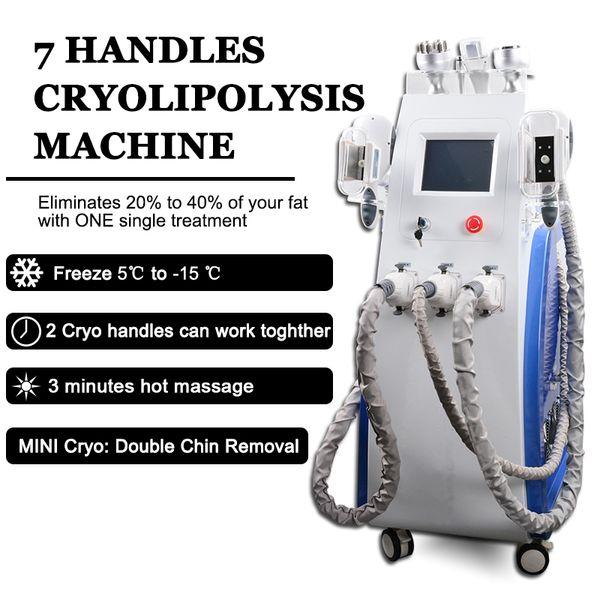 Máquina de congelamento de gordura multifuncional cryolipolysis Dispositivo de perda de gordura Máquina de emagrecimento lipo a laser RF remoção dupla queixo para salões de beleza