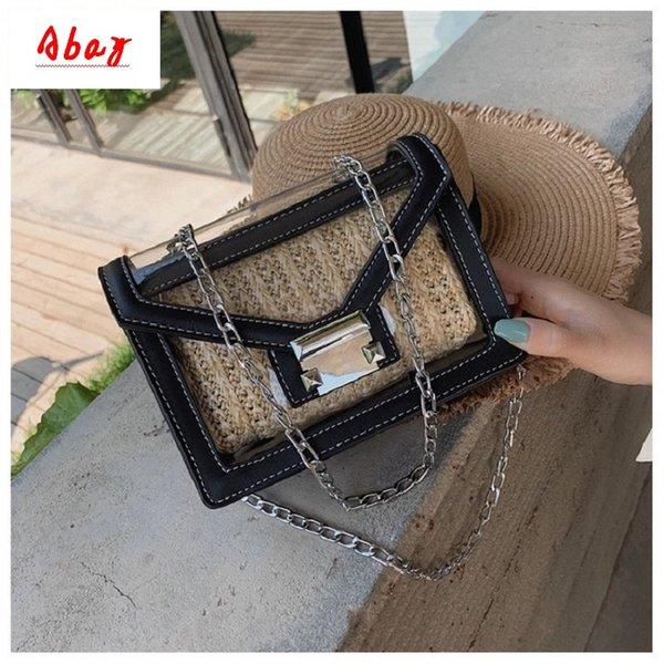 Abay Fashion transparent women's bag 2019 new summer trend wild jelly bag shoulder slung girl small