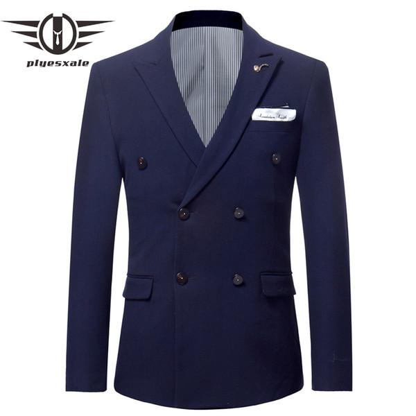 Gris Bordeaux Marine Bleu Armée Vert Blanc Blanc Blazer Croisé Hommes Slim Fit Blazers De Mariage Pour Hommes De Mode Broderie Q559