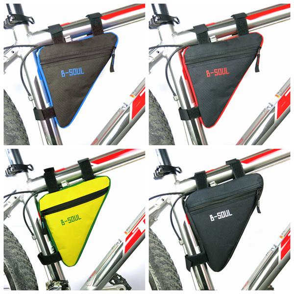 Üçgen Bisiklet Çanta Ön Tüp Çerçeve Bisiklet Bisiklet Çanta Su Geçirmez MTB Yol Kılıfı Tutucu Eyer Bicicleta 4 Renkler ZZA991 250 ADET