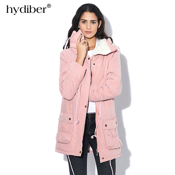 New 2018 Winter Coat Women military Outwear Medium-Long Wadded Hooded snow Parka thickness Cotton Warm casual Jacket Plus Size
