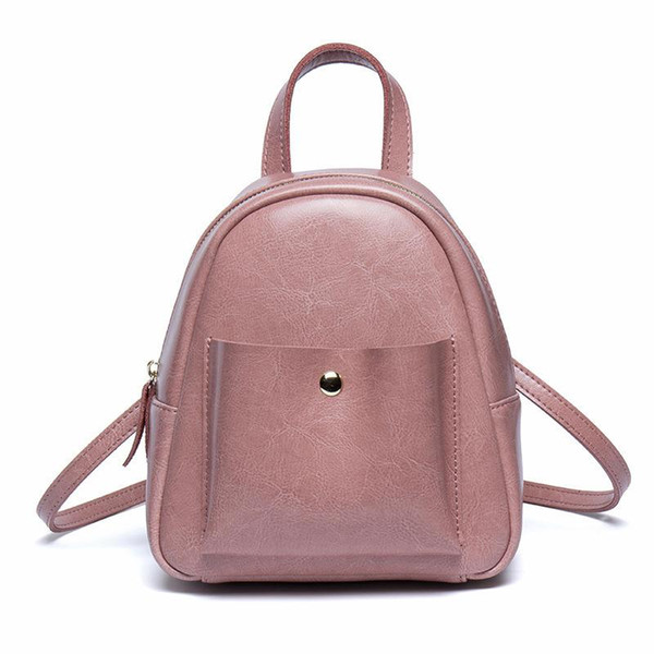Glitzy2019 Season Mini- A Bag Woman Genuine Leather Backpack Both Shoulders Package Book System