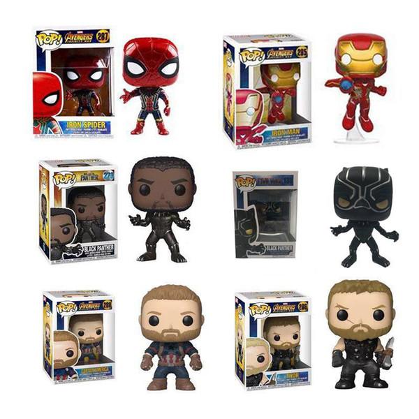 Funko pop Avengers: Endgame Figure Doll toys 2019 New kids Avengers 4 Iron man Spiderman Thor Captain America Black Panther figure Toy