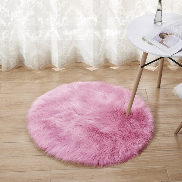 Wool Imitation Sheepskin Rugs Faux Fur Non Slip Bedroom Shaggy Carpet Mats Modern Carpets For Living Room Fashion A26@Z