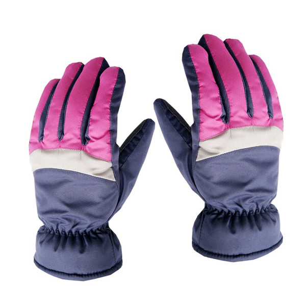 Unisex Winter Snow Gloves Windproof Waterproof Antislipping Leather Palm Full Finger Gloves Comfortable Warm Cotton Mittens
