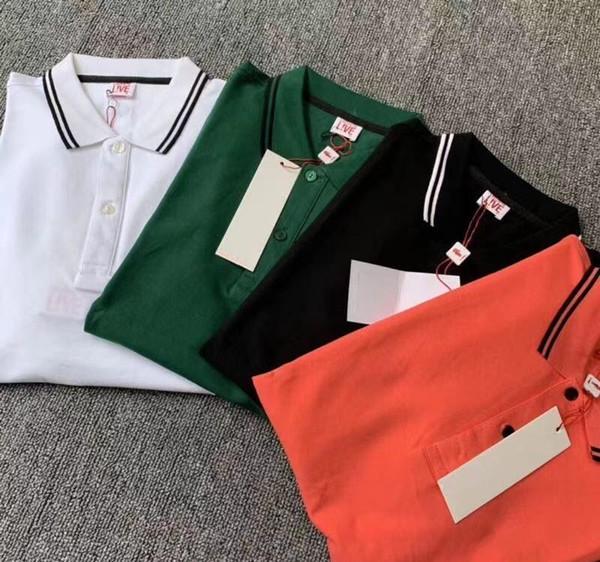 Del diseñador del Mens Polo camisa de la manera Marca 4 colores cocodrilo Impreso Polo asiática Sizexxloffow