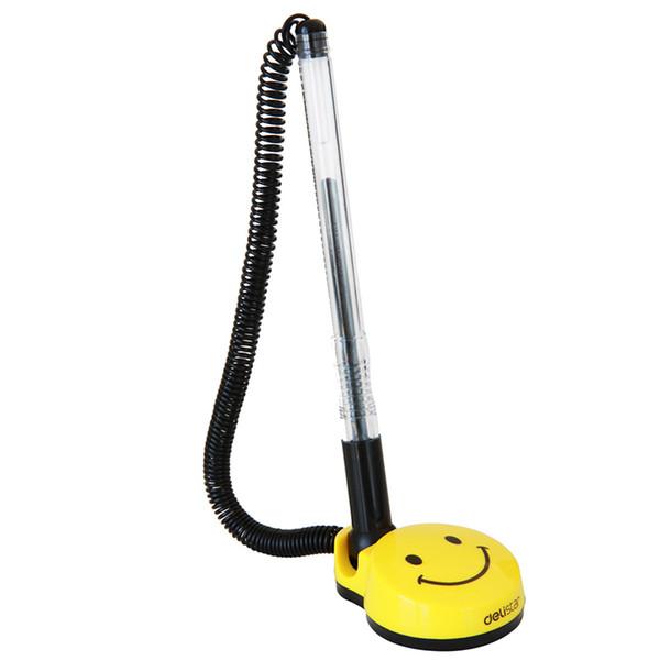 Smile Face Gel Pens 0.5mm Swivel Stand Desktop Gel Pens Desk Office Front Desk Counter Pen Pasted Signing Pen 510
