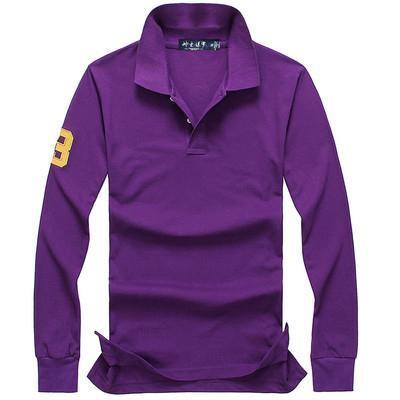 top popular 2019 Polo shirt Solid Men Luxury Polo Shirts long Sleeve Men's Basic Top Cotton Polos For Boys Brand Designer Polo Homme FC04 2019