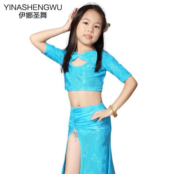 De nouveaux vêtements pour enfants Danse Danse du ventre Costume Les filles du ventre Costumes pratique Kid Vêtements Performance Set de