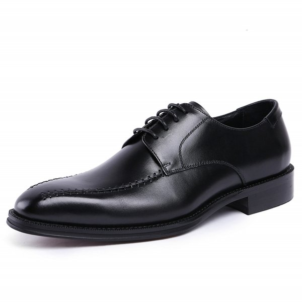 New Genuine Leather Creepers Flats Good Quality Men Shoes Hot Sale Zapatos Mujer Black Mens Shoes Dress Formal JS-A0093