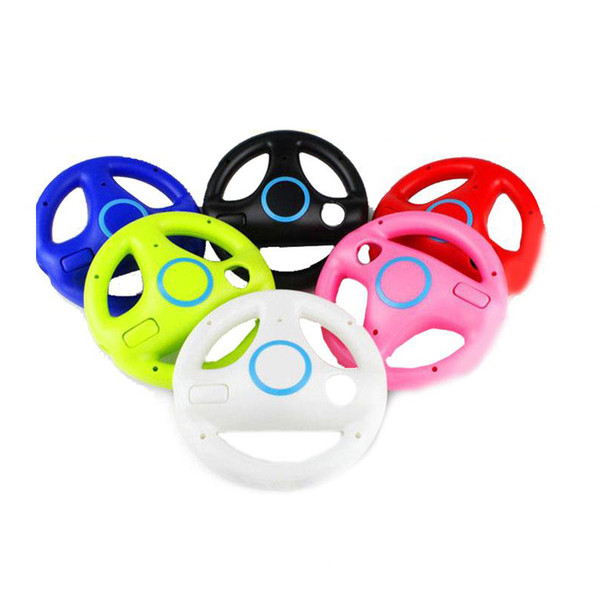 top popular 2pcs Kart Racing Steering Wheel 6 colors For Nintendo Wii Games Remote Controller Console for Super Mari o Kart Game Accessories 2020