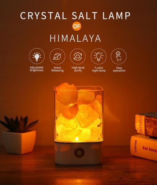 Großhandel Festival Geschenk USB Crystal Light Natürliche Himalaya  Salzlampe LED Lampe Luftreiniger Stimmung Creator Indoor Warm Tisch  Schlafzimmer ...