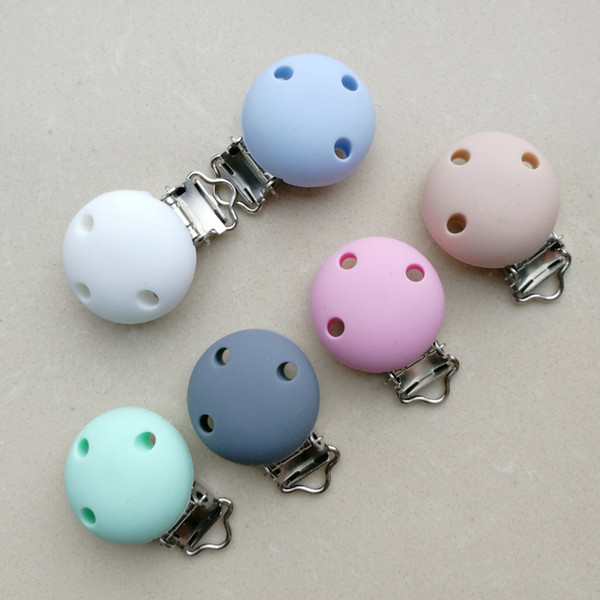 10pcs/diy Silicone Baby Supplies Soother Holder Pacifier Nipple Clip Hardware Duckbill Button Chain Wholesale Accessories Clip