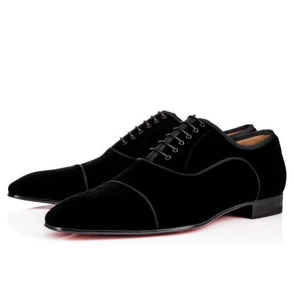 Hot Sale- Red Bottom Shoes Orlato Flat Leather Oxford Shoes Mens Womens Walking Flats Wedding Party Loafers 38-47 R150