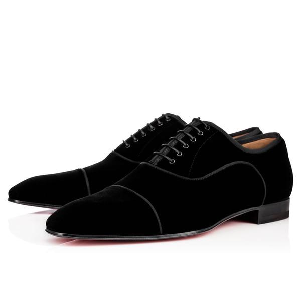 Hot vendre- Chaussures Bas Rouge Orlato Oxford plat Chaussures en cuir des femmes des hommes de marche Flats de soirée de mariage Mocassins 38-47 R150