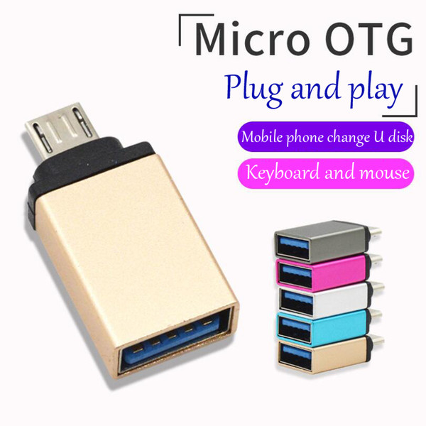 Micro metal mobile phone adapter usb3.0 OTG V8 Android universal adapter data transmission charging head