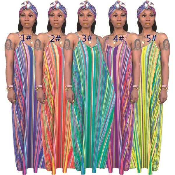 Yaz dress maxi kolsuz sutyen dress kadınlar tasarımcı elbiseler casual artı uzun plaj parti akşam kulübü dress gevşek şerit elbiseler klw1322