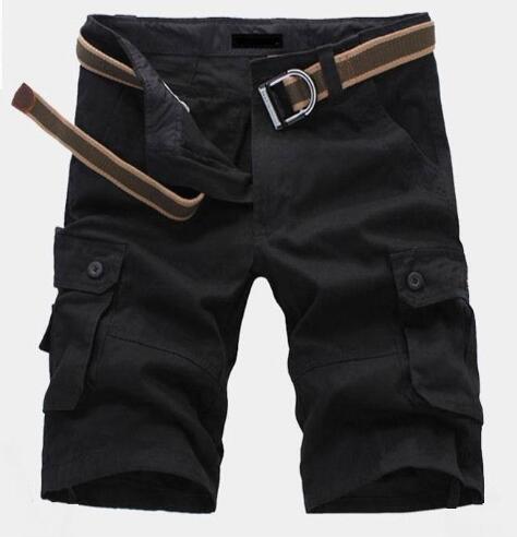 Homens de Moda ao ar livre Calções Casuais Bolso América Moda Meninos Polo Calças Curtas Board Swimwear Khaki Verde Preto