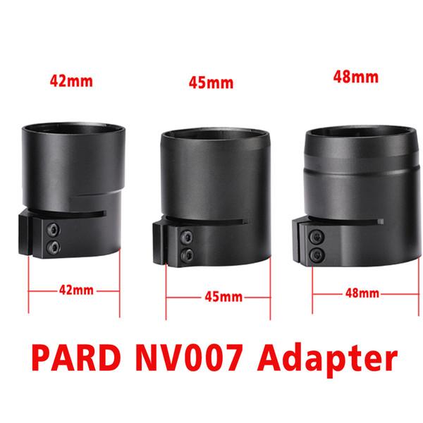 PARD NV007 Adaptador de Visión Nocturna Digital 42/45/48 mm 3 tamaño Bayoneta Ajuste para NV007 Visión Nocturna 48mm Soporte
