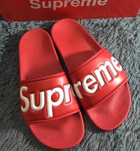 mit Box Marken Slippers Qualität Sandalen Designer-Schuhe Slides Flip Flops Mann Frau Loafers Huaraches Schuhe