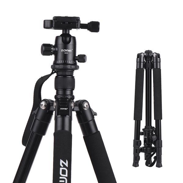 ZOMEI Portable Aluminum Alloy Camera Tripod Monopod DSLR Camera Stand Holder Tripode Para Camara for Canon Nikon Sony DSLR