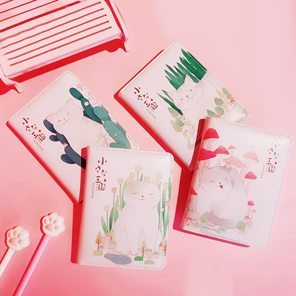 New Arrival Portable Cartoon Cat Lovely Diary Notebook Journal Memo Book School Supplies