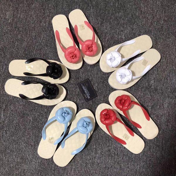 2019 männer frauen sandalen camillia 35-40 Mode leder luxus sandalen flache rutschen ferse leder strandschuhe offene spitze rutschfeste weiche boden