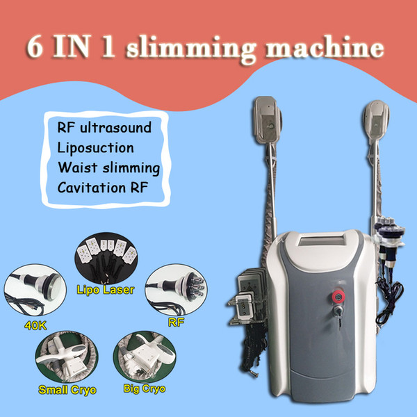 Newest fat freezing machine waist slimming cavitation rf machine fat reduction lipo laser 2 freezing heads can work at the same time DHL