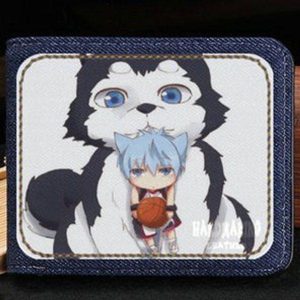 Kurokos wallet Kuroko Tetsuya purse Basketball comic short cash note case Money notecase Leather jean burse bag Card holders