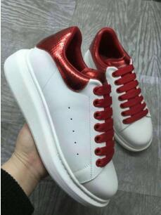 2019New silk leather white shoes for men and women casual sports shoes leather sponge cake thick bottom increased zn161